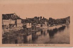 Le quai - Maisons à galeries, le sol - Montignac