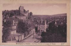 Le vieux château et la route de Thonac - Montignac