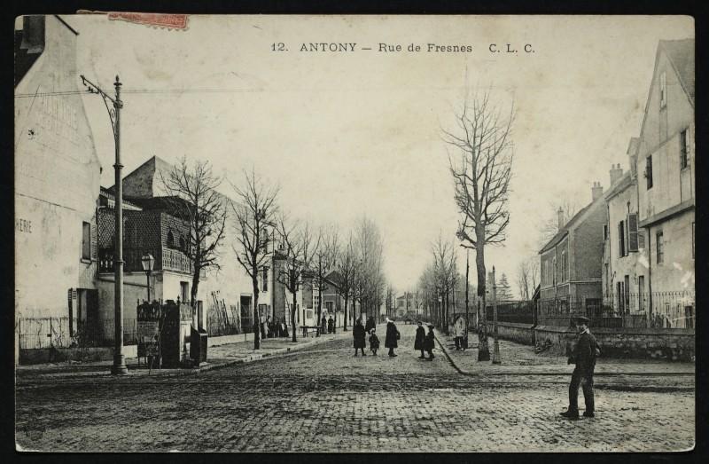 Carte postale ancienne Rue de Fresnes à Antony