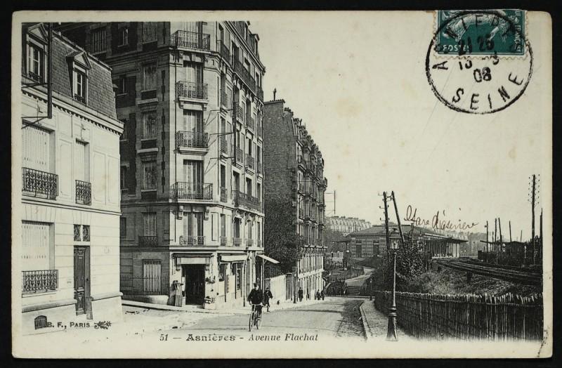 Carte postale ancienne Avenue Flachat à Asnières-sur-Seine