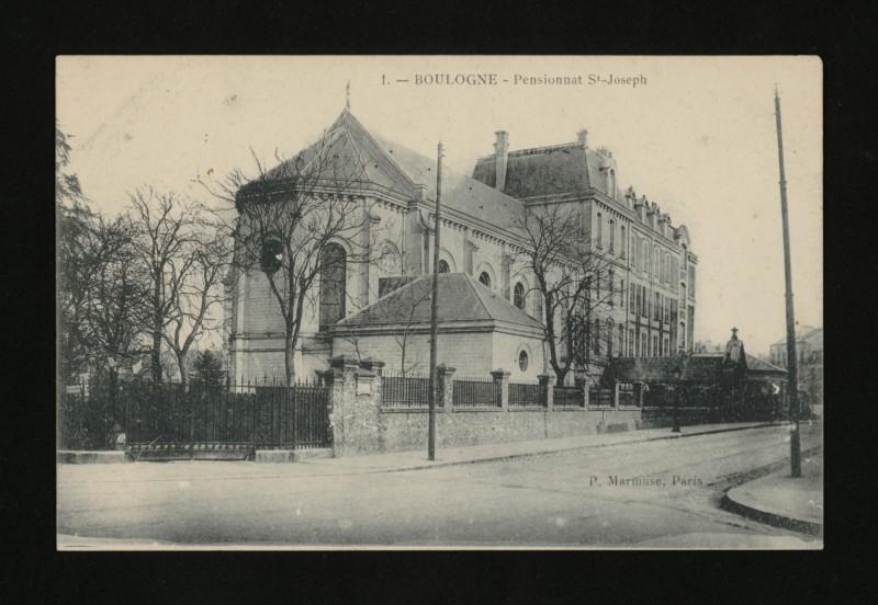 Carte postale ancienne Pensionnat St-Joseph à Boulogne-Billancourt