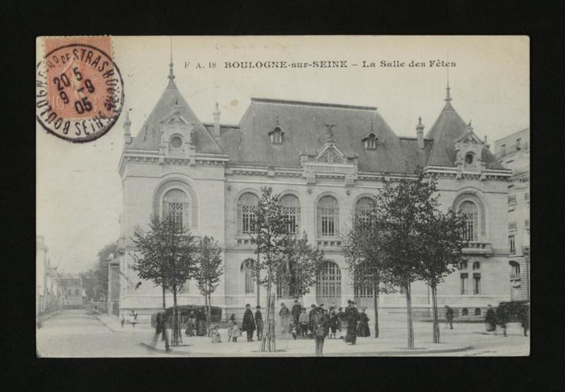 Carte postale ancienne St-Cloud-Boulogne - Salle des fêtes à Boulogne-Billancourt