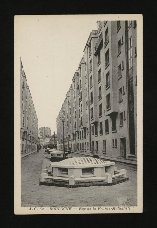 Carte postale ancienne Rue de La France-Mutualiste à Boulogne-Billancourt