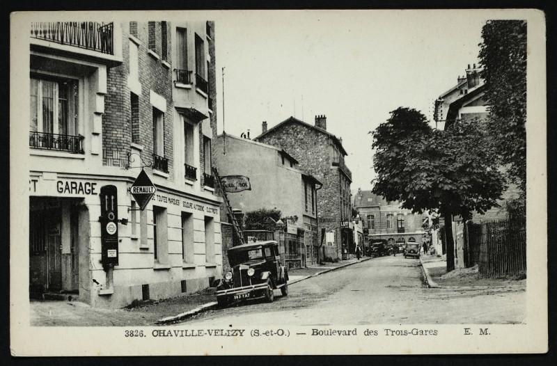 Carte postale ancienne Boulevard des Trois-Gares à Chaville
