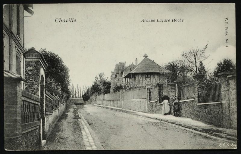 Carte postale ancienne Avenue Lazare Hoche à Chaville