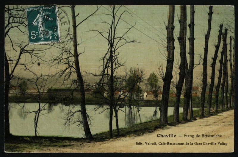 Carte postale ancienne Etang de Brisemiche à Chaville