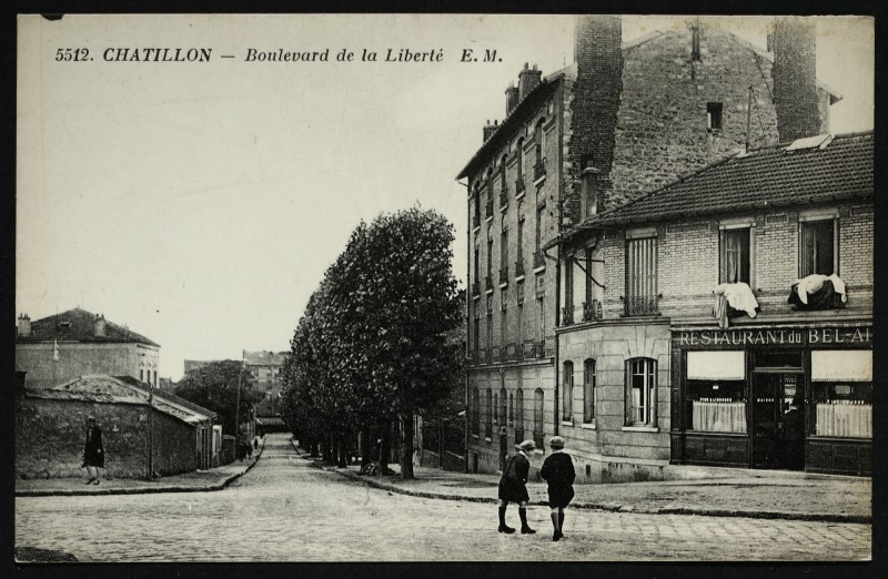 Carte postale ancienne Boulevard de la Liberté à Châtillon