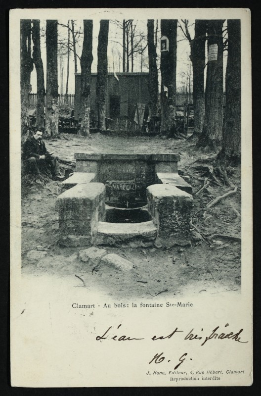 Carte postale ancienne Au Bois - Fontaine Sainte-Marie à Clamart