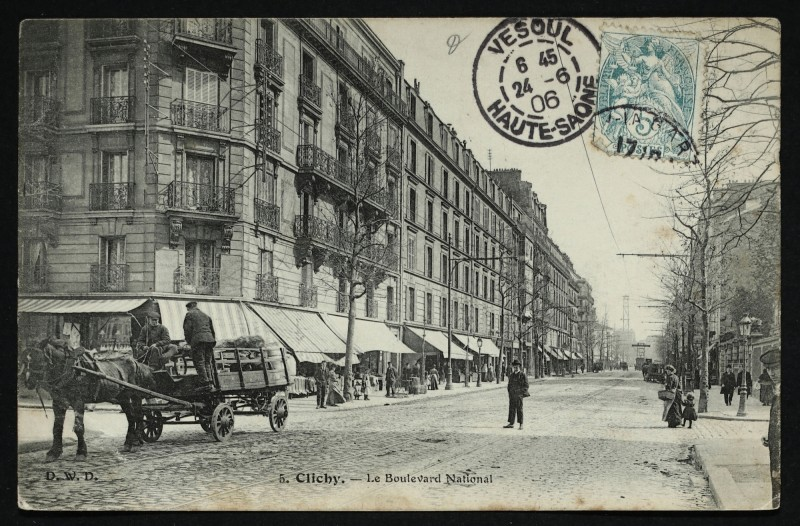 Carte postale ancienne Le Boulevard National à Clichy
