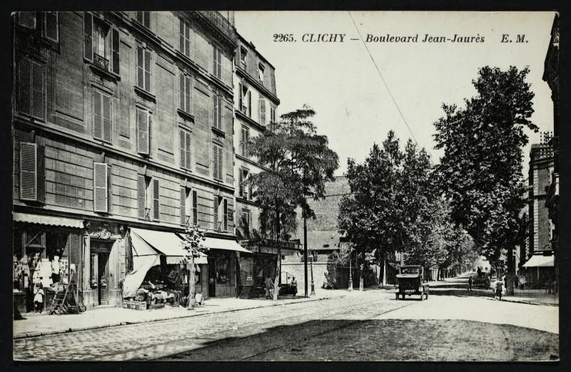 Carte postale ancienne Boulevard Jean-Jaurès à Clichy