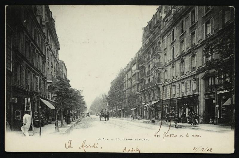 Carte postale ancienne Boulevard National à Clichy