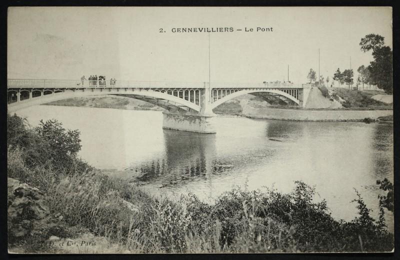 Carte postale ancienne Le Pont à Gennevilliers