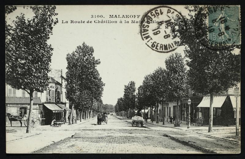 Carte postale ancienne La Route de Châtillon à la Maison Blanche à Montrouge