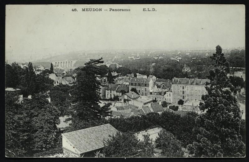 Carte postale ancienne Panorama à Meudon