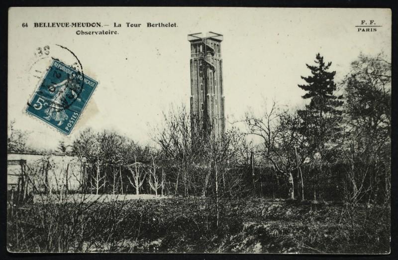 Carte postale ancienne Bellevue - Meudon - La Tour Berthelot - Observatoire à Meudon