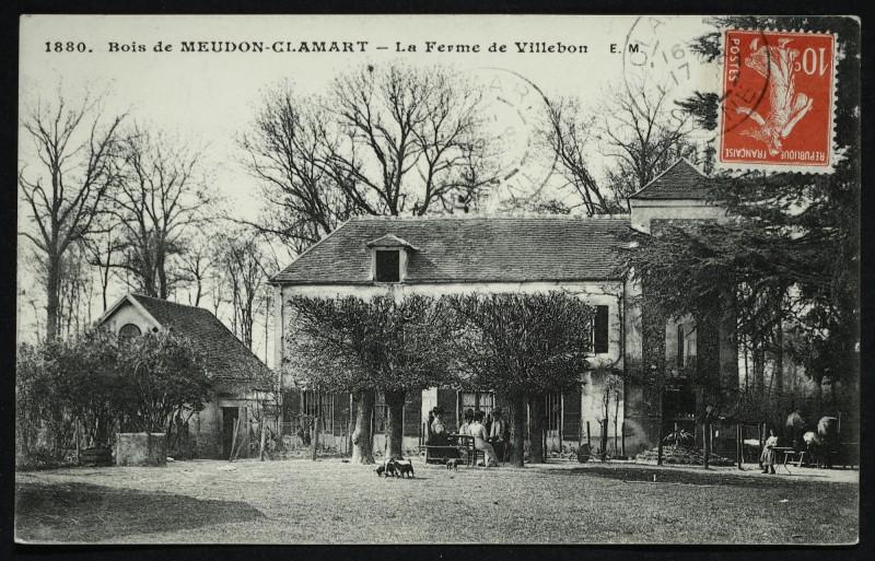 Carte postale ancienne Bois de Meudon-Clamart - La Ferme de Villebon à Meudon