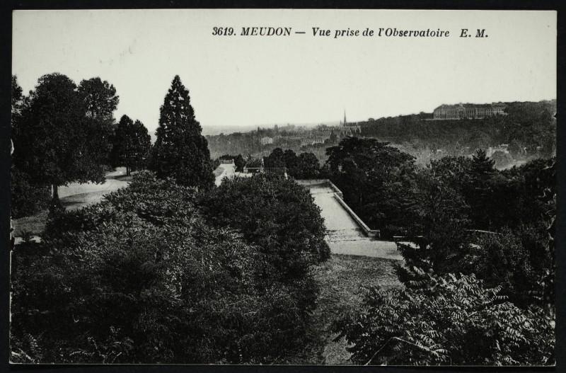 Carte postale ancienne Vue prise de l'Observatoire à Meudon