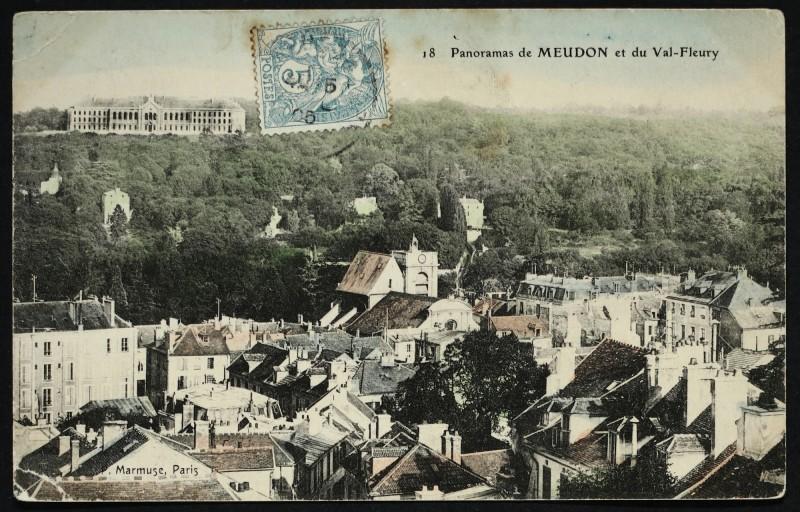 Carte postale ancienne Panorama de Meudon et du Val-Fleury à Meudon