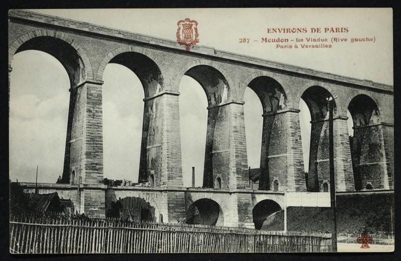Carte postale ancienne Le Viaduc (Rive gauche) Paris à Versailles à Meudon