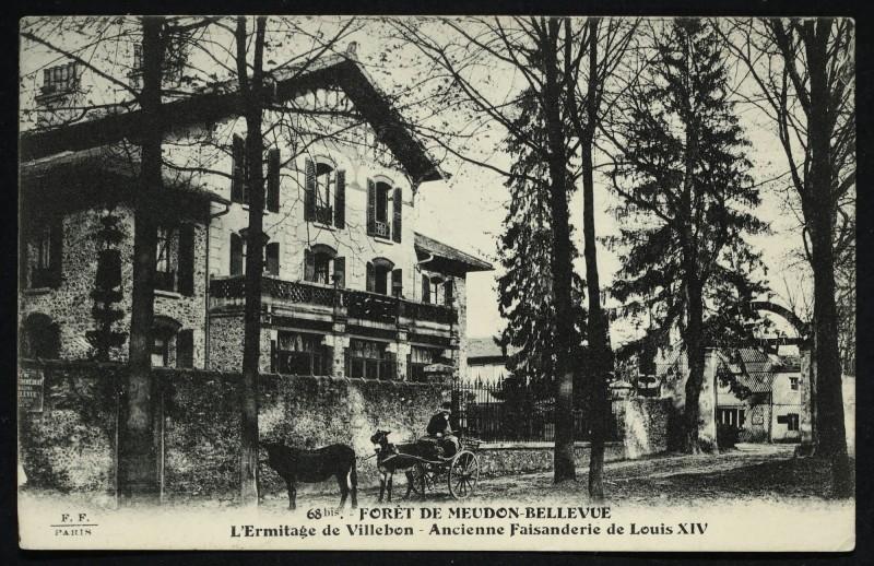 Carte postale ancienne Forêt de Meudon-Bellevue - L'Ermitage de Villebon - ancienne Faisanderie de Louis Xiv à Meudon