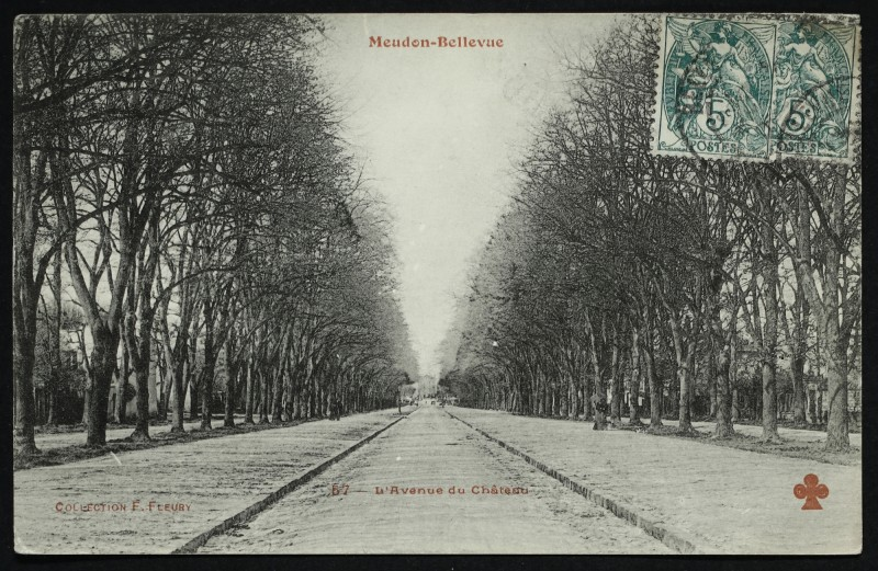 Carte postale ancienne Meudon-Bellevue - L'Avenue du Château à Meudon