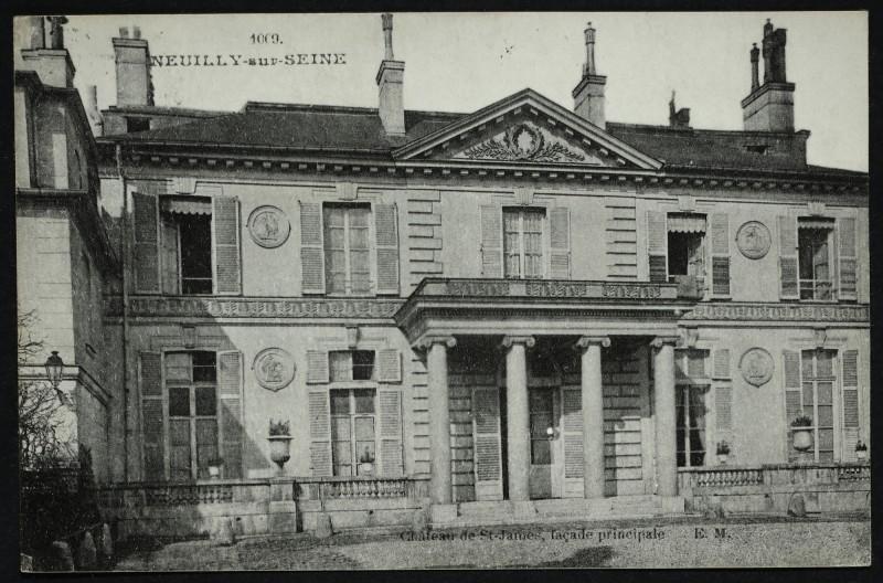 Carte postale ancienne Château de St-james, façade principale à Neuilly-sur-Seine