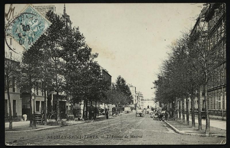 Carte postale ancienne L'Avenue de Madrid à Neuilly-sur-Seine