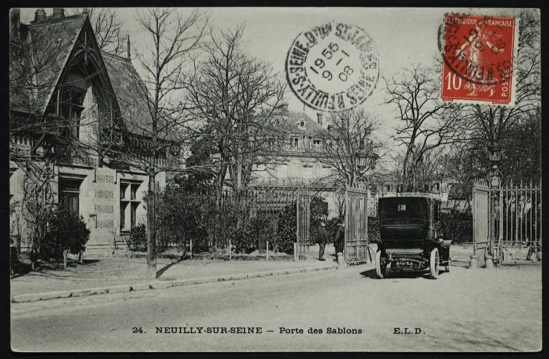 Carte postale ancienne Porte des Sablons à Paris 16e