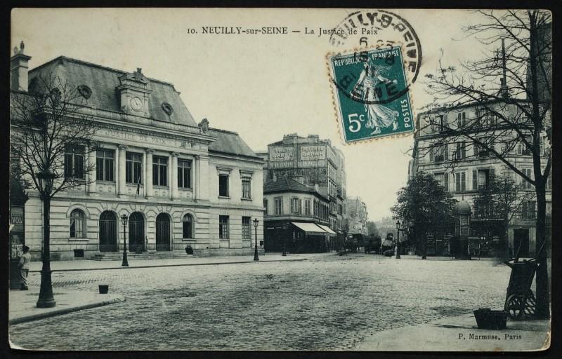 Carte postale ancienne La Justice de Paix à Neuilly-sur-Seine