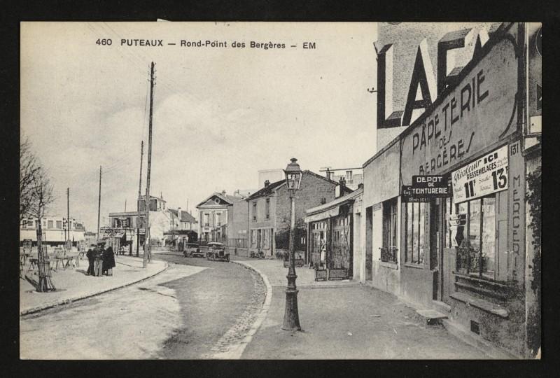 Carte postale ancienne Rond-Point des Bergères à Puteaux