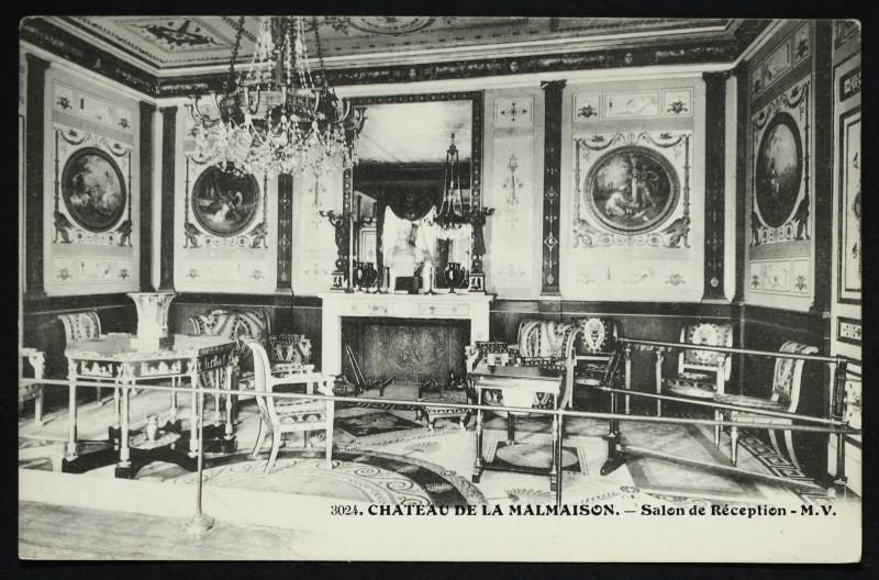 Carte postale ancienne Château de la Malmaison - Salon de Réception à Rueil-Malmaison