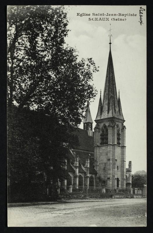 Carte postale ancienne Eglise Saint-Jean Baptiste à Sceaux