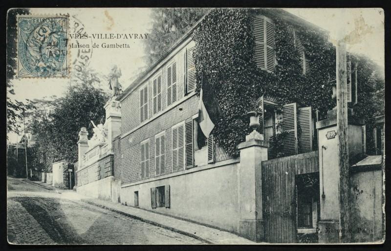 Carte postale ancienne Maison de Gambetta à Sèvres