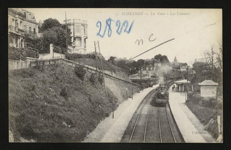 Carte postale ancienne La Gare - Les Coteaux à Suresnes