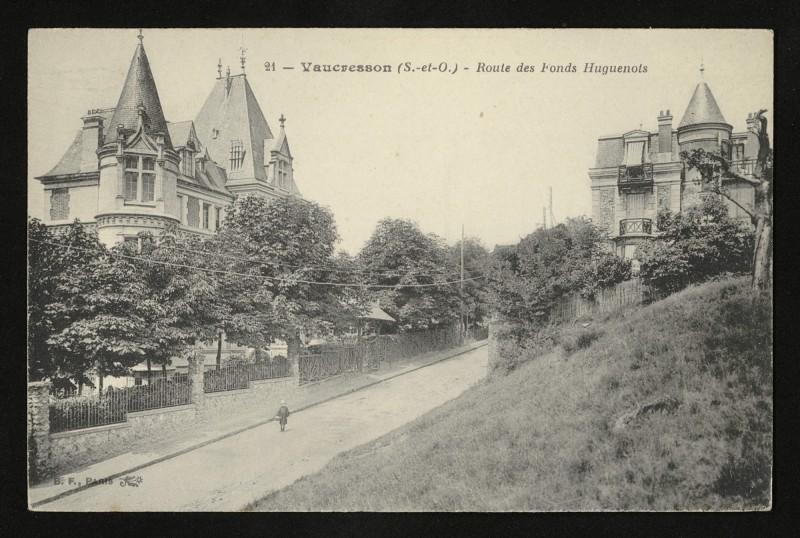 Carte postale ancienne Route des Fonds Huguenots à Vaucresson