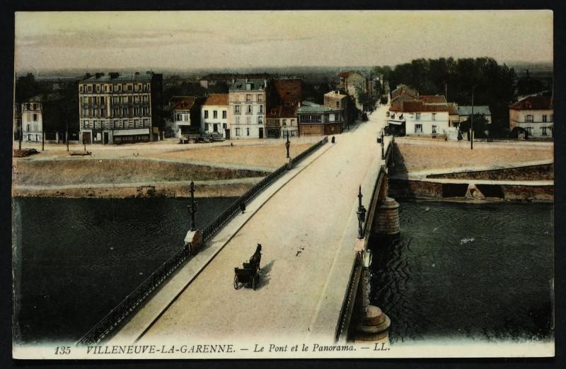 Carte postale ancienne Le Pont et le Panorama à L'Île-Saint-Denis