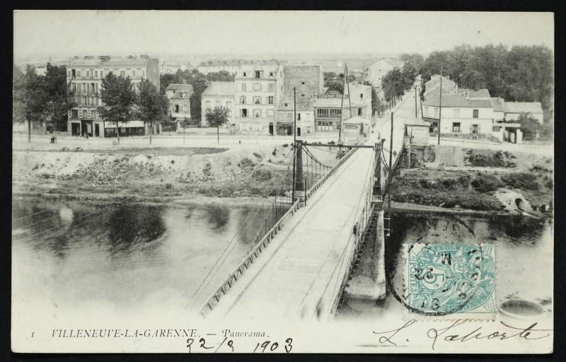 Carte postale ancienne Panorama à L'Île-Saint-Denis