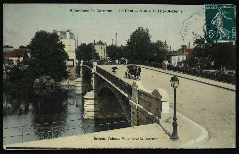 Carte postale ancienne Le Pont - Vue sur l'Isle-St-Denis à L'Île-Saint-Denis