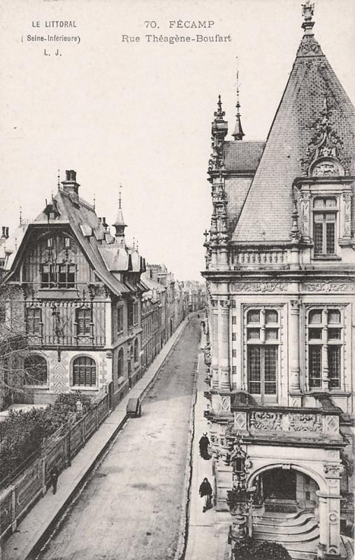 Carte postale ancienne (1 A) Fécamp rue Théagène Boufart