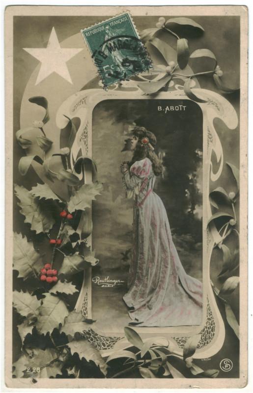 Carte postale ancienne ABBOT, Bessie SIP. 2128. Photo Reutlinger