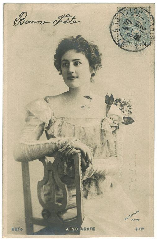 Carte postale ancienne ACKTE, Aïno SIP. 90-4. Photo Reutlinger à
