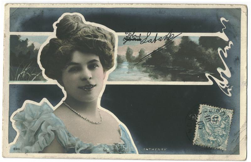 Carte postale ancienne Adeline Lanthenay. 895. Photo Reutlinger