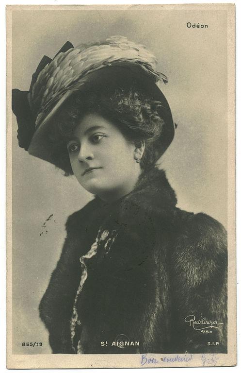 Carte postale ancienne AIGNAN, St. SIP. 855 19. Odéon. Photo Reutlinger
