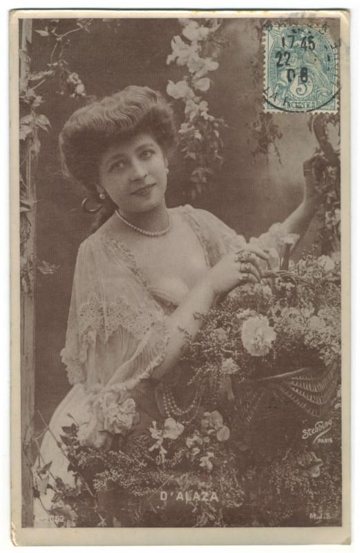 Carte postale ancienne ALAZA, André d' (Blondiette) MJS. 5052. Photo Stebbing