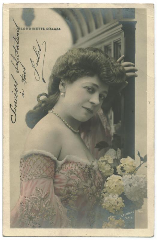 Carte postale ancienne ALAZA, Blondiette Etoile. 749-62. Photo Stebbing