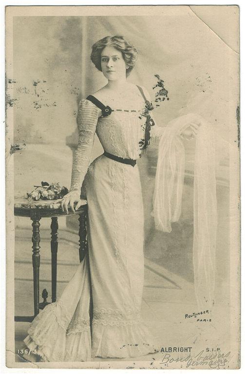 Carte postale ancienne Albright SIP. 136 3. Photo Reutlinger