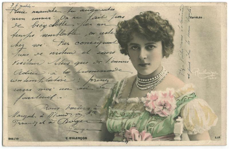 Carte postale ancienne ALENCON, Emilienne d' SIP. 845-10. Variétés. Photo Reutlinger