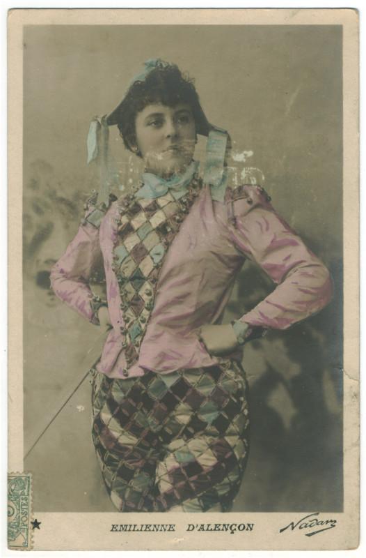 Carte postale ancienne ALENCON, Emilienne d' Etoile. 758-64. Photo Nadar