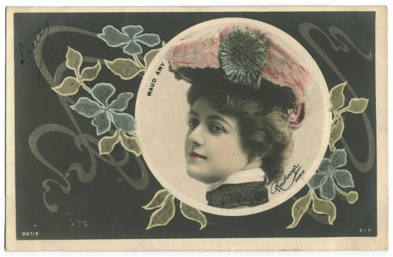 Carte postale ancienne AMY, Maud SIP. 867 9. Photo Reutlinger à