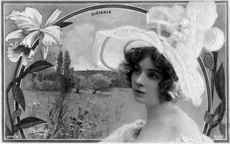 Carte postale ancienne Amélie Diéterle (1871-1941) (A100) à